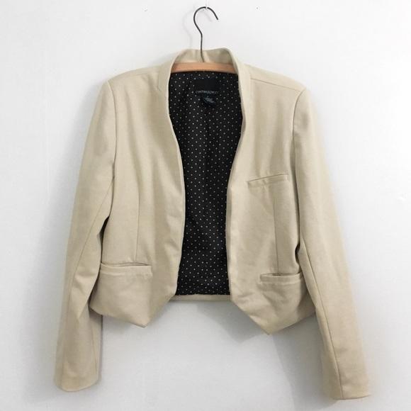 Cynthia Rowley Jackets & Blazers - Neutral Beige Open Blazer Cynthia Rowley Medium